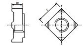 DIN 928 soldable cuadrada