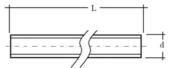 DIN 976 varilla cortada a tramos
